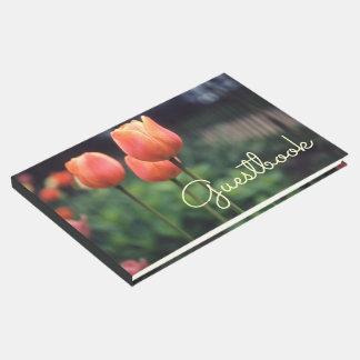 Tulpe-Frühlings-Blumentulpe-Garten-hübsche Blumen Gäste Buch