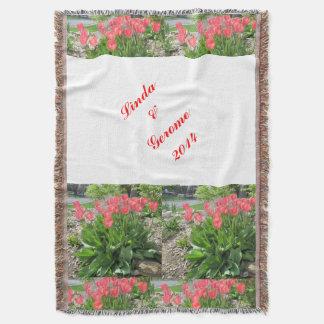 Tulpe-personalisierte Hochzeits-Decke Decke