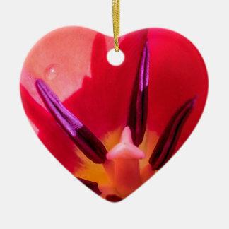 Tulpe-Pornografie Keramik Herz-Ornament