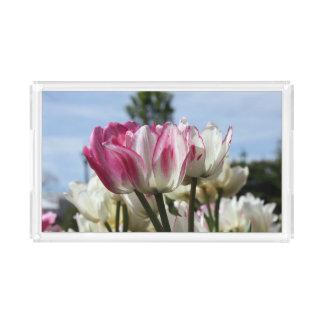 Tulpe-Serviertablett Acryl Tablett