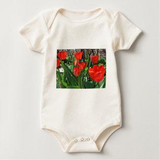 Tulpe-Sommer Baby Strampler