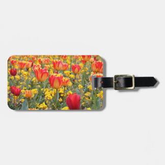 Tulpen, helles und buntes Gelbes und Rot Koffer Anhänger
