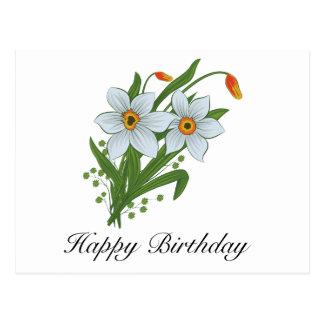 Tulpen und Narzissen-Blumen Postkarte