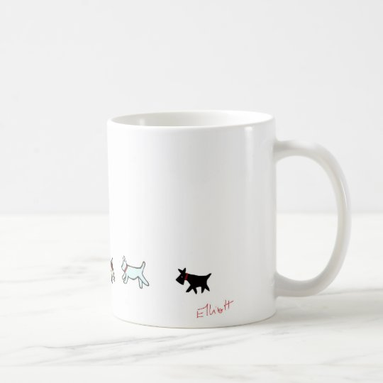 Tun Sie den Hündchen-Weg Kaffeetasse