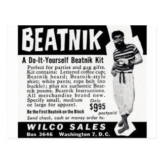 Tun Sie es sich Beatnik-Ausrüstung Postkarte