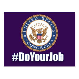 Tun Sie Ihre Job-Kongress-Postkarte Postkarte