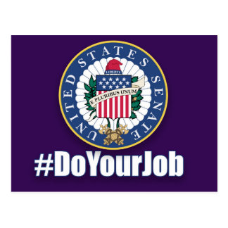 Tun Sie Ihre Job-Senats-Postkarte Postkarte