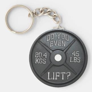Tun Sie Sie sogar Aufzug - Barbell-Platte Schlüsselanhänger