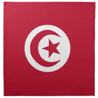 Tunesische Flagge Stoffserviette