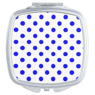 Tupfen - Blau auf Weiß Taschenspiegel