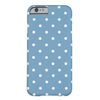 Tupfen-Blau u. Weiß Barely There iPhone 6 Hülle