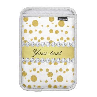 Tupfen-Goldölfarbe und Diamanten iPad Mini Sleeve