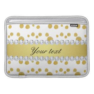 Tupfen-Goldölfarbe und Diamanten MacBook Sleeve