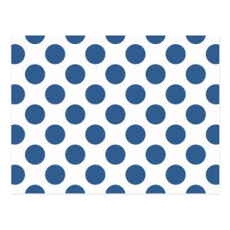 Tupfen-helles Kobalt Postkarte