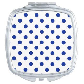 Tupfen - Kaiserblau auf Weiß Taschenspiegel
