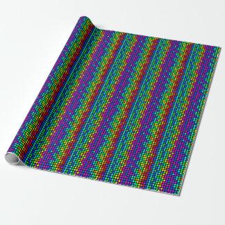 Tupfen-Muster-helle Farben Geschenkpapierrolle