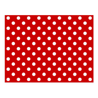 Tupfen rot + Kundenspezifische Farbe Postkarte