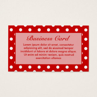Tupfen rot + Kundenspezifische Farbe Visitenkarte
