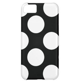 Tupfen (schwarz u. Weiß) irgendeine Größe iPhone 5C Hülle