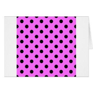 Tupfen - Schwarzes auf ultra rosa Karte