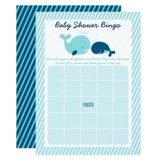Tupfen-Wal-Babyparty-Bingo 14 X 19,5 Cm Einladungskarte