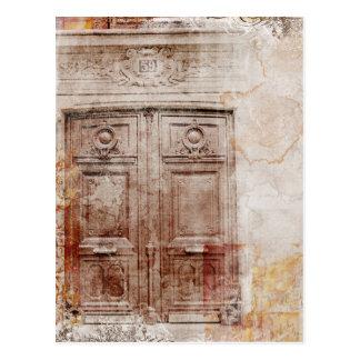 Tür abstrakt postkarten