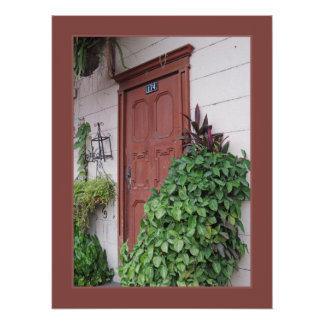 Tür auf Santa- Anahügel - Ecuador Poster