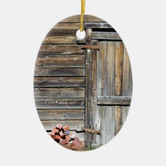 Tür der Gelegenheit Ovales Keramik Ornament