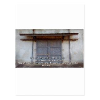 Tür für das Leben Postkarte