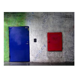 Tür in Stockholm, FotoOlaBerg… Postkarte