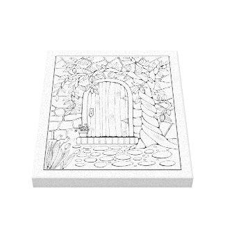Tür-Linie Kunst-Entwurf Leinwanddruck