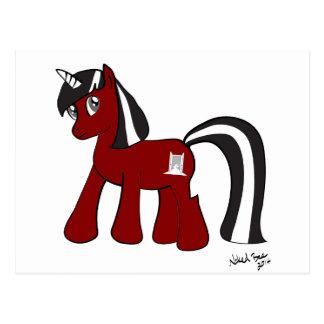 Tür-Pony Postkarte