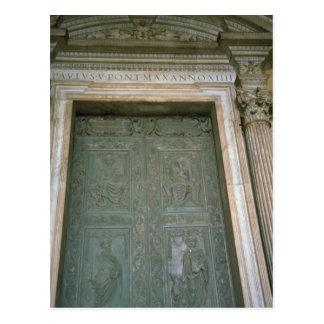 Tür von St Peter Basilika Postkarten