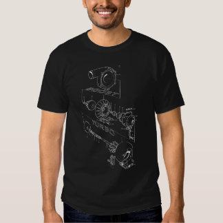 Turbo-Diagramm (dunkel) Hemden