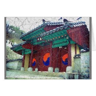 Türen Südkorea des buddhistischen Tempels mit Ying Karte
