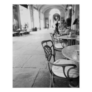 Turin Italien, Café und Torbogen Poster