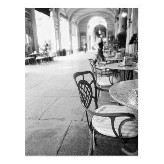 Turin Italien, Café und Torbogen Postkarte
