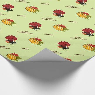 Türkei- und Kürbis-Entwurfs-Geschenk-Packpapier Geschenkpapier