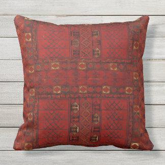 Turkestani Muster roten Teppichs Kissen Für Draußen