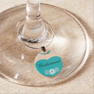 Türkis-aquamarine Brautjungfern-Hochzeit Glasdekorierung