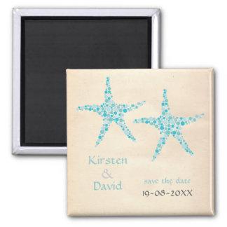 Türkis-Aquastarfish-Paar-Save the Date Magnet Magnets