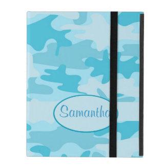 Türkis-Blau-Camouflage-Tarnungs-Name Schutzhülle Fürs iPad