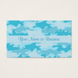 Türkis-Blau-Camouflage-Tarnungs-Name Visitenkarte