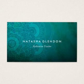 Türkis-Blau-Mandala-Zen-Visitenkarte Visitenkarte