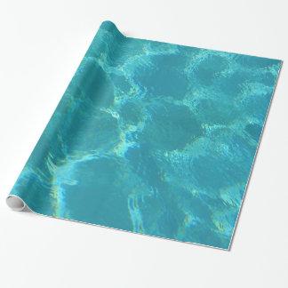Türkis-blaues Wasser-Wasser-Packpapier Geschenkpapier