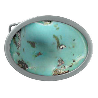 Türkis-Edelstein-Bild-ovale Gürtelschnalle Ovale Gürtelschnallen