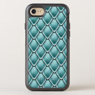 Türkis-Fantasie-Skala-Muster OtterBox Symmetry iPhone 7 Hülle