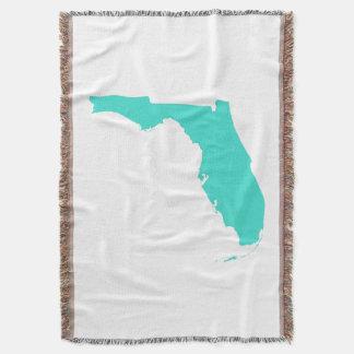 Türkis-Florida-Form Decke