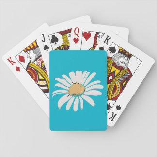 Türkis-Gänseblümchen-Blumenspielkarten Spielkarten