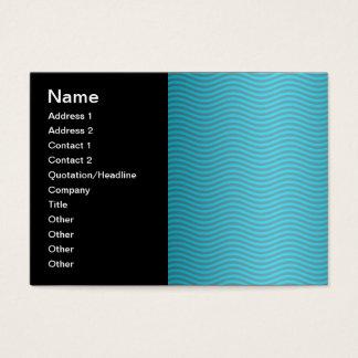Türkis-gewelltes Streifen-Muster Visitenkarte